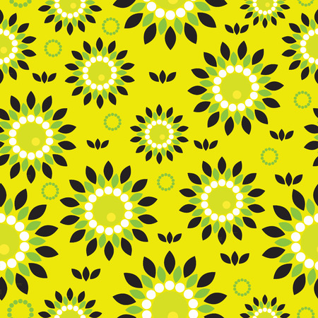 plant delicate: Seamless vector background with abstract flowers. Template for design.