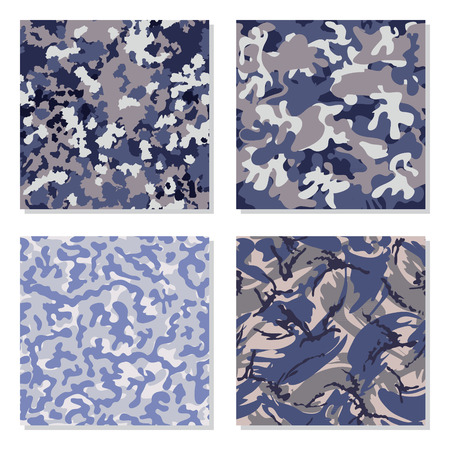 color conceal: Seamless set of camouflage pattern vector. Template for design. Illustration