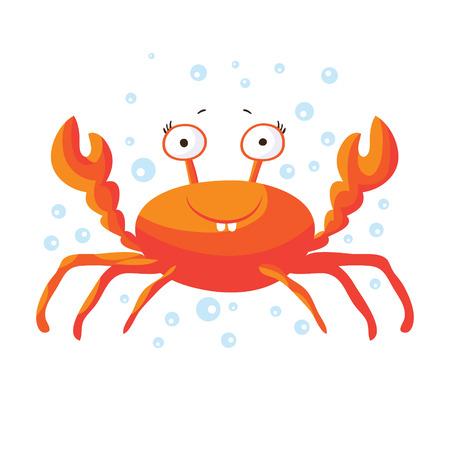 children crab: Cute crab isolated T-Shirt design for children Illustration