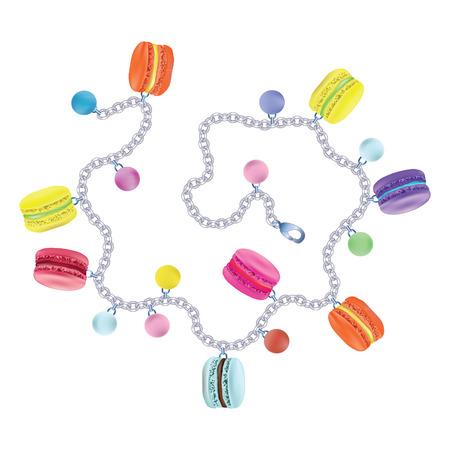 Bracelet macaroon. Vector illustration on white background