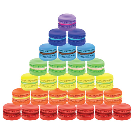 macaroon: Pyramid of macaroon. Vector illustration on white background