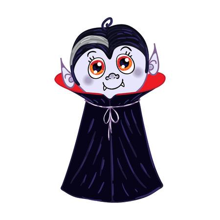 horrify: Halloween Vampire Character Vector Illustration