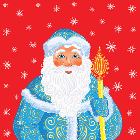 grandfather frost: Russian Christmas and New Year Father Frost