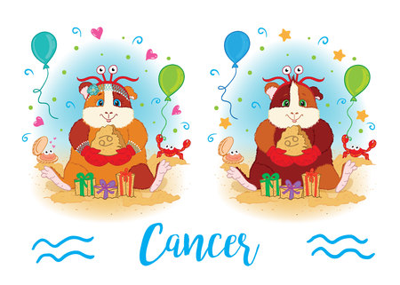 mumps: The signs of the zodiac. Guinea pig. Cancer