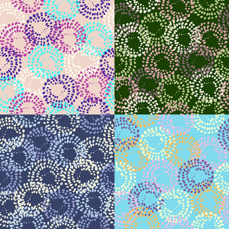 Vector set modern geometrical abstract background.
