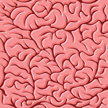 Seamless pattern with brains Vector Illustration