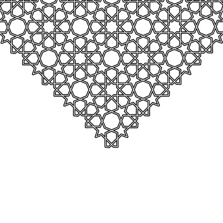 Arabesque star vector triangle background. Ilustrace