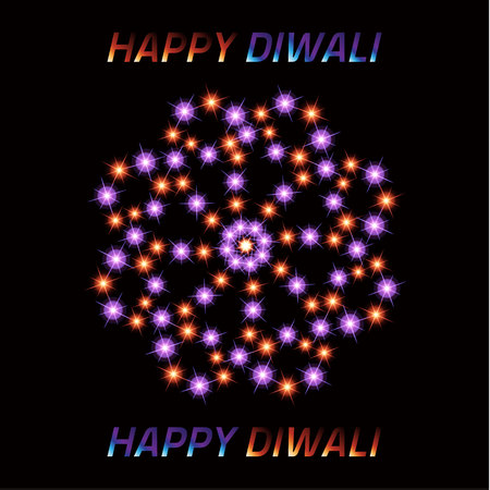 Diwali the Indian Festival of Lights. Greeting card