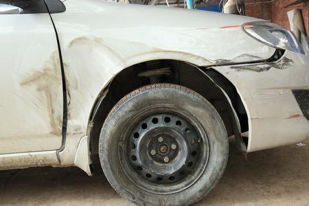 damaged: damaged car Stock Photo
