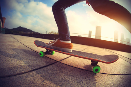 skateboard: skateboarder  skateboarding on city Stock Photo
