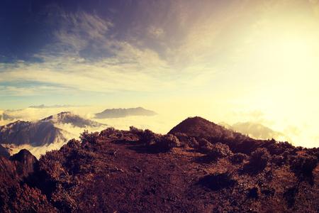 jokul: beautiful rolling clouds and mountain landscape Stock Photo