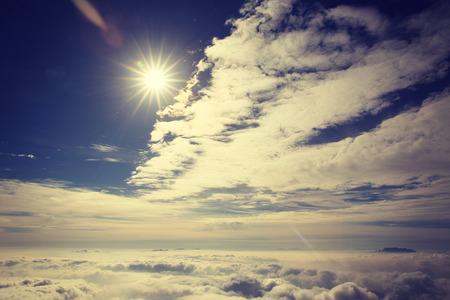 jokul: beautiful rolling clouds and sunset landscape