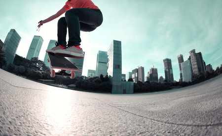 skateboard: skateboarding at city