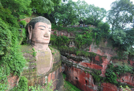 stone buddha: large buddha statue in Leshan, Sichuan, China Stock Photo