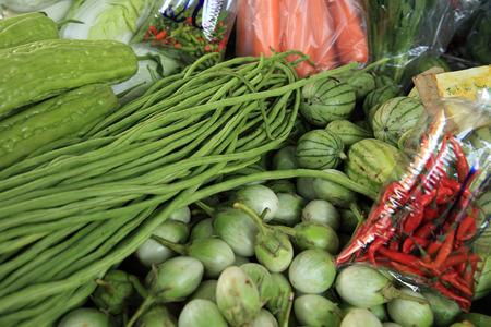 capsicum plant:  maekong railway station market,thailand
