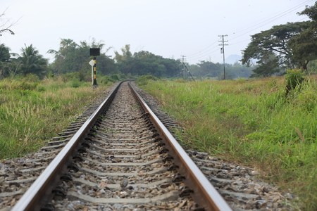 railway track: railway track in thailand Stock Photo