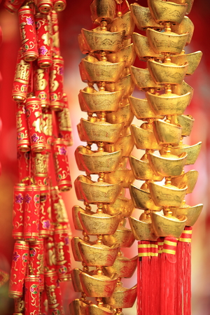 gold ingot: chinese new year decorations.fake gold ingot best wishes for wealthy in the coming new year