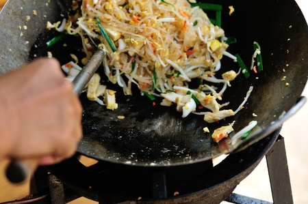 thailand: stir frying vermicelli