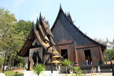 pitched roof: Black House (Baan Dam), Chiang Rai, Thailand