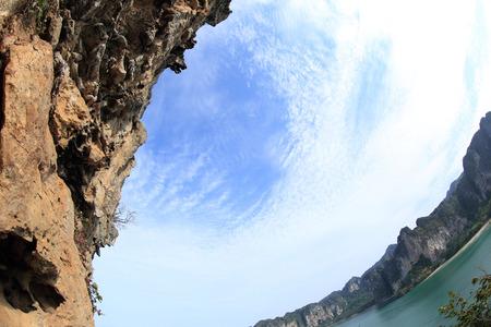 rockwall: beautiful seaside rockwall landscape Stock Photo
