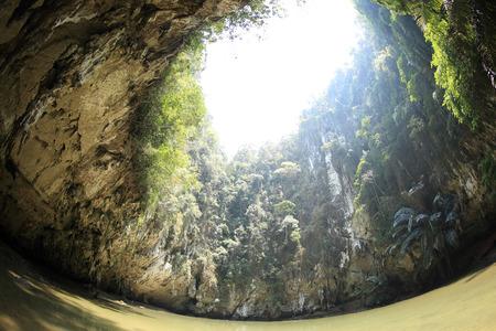 lagoon: lagoon in mountain cave