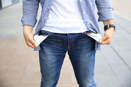 with no money: people showing has no money by turning out the pocket