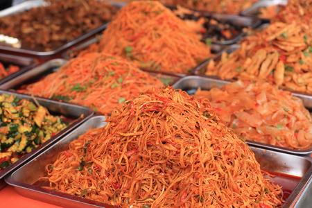 asian flavors: traditional food market in xinjiang,china