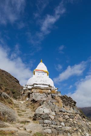 stupa on the way to everest base camp,nepal