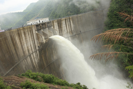 discharge time: dam discharge water in the summer time