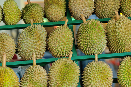 sell: Durian to Sell Stock Photo
