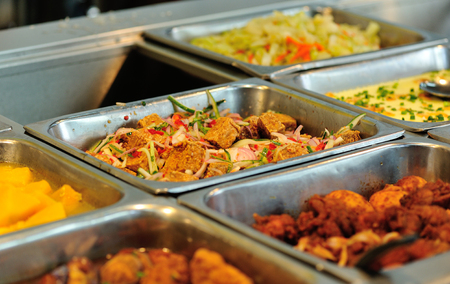 comedor escolar: Chinese fast food buffet food in restaurant