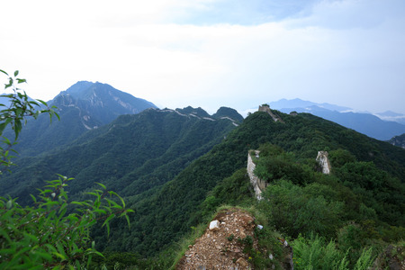 landscape of the great wall in China