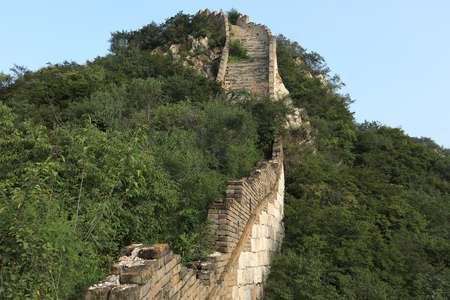 landscape of the great wall in china Stock Photo