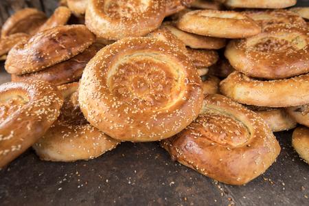 bunch of naan flat breads closeup