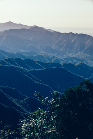 foggy mountain landscape in china Stock Photo