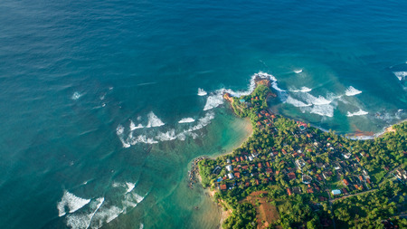Aerial view of tropical coastline Standard-Bild