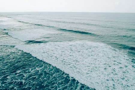 Aerial drone view of sea wave surface