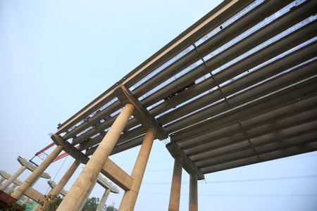 Heavy industrial equipment for build superhighway at construction site for mega project in China