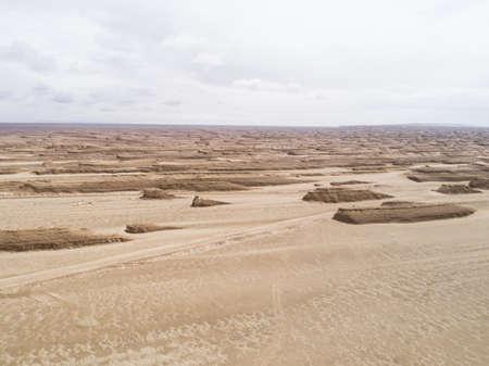 Yardang landform landscape in west of china