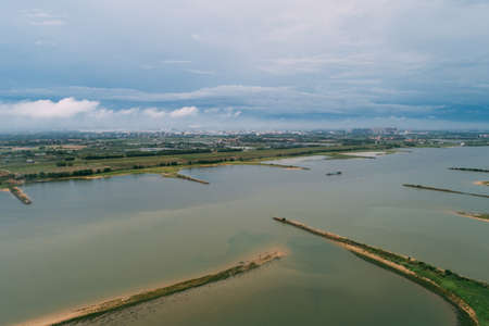 Aerial view of landscape in Guangdong,China Banco de Imagens