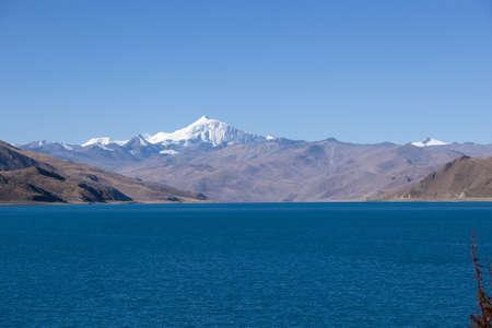 Yamdrok lake in tibet china