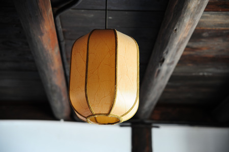 Ancient houses lantern photo