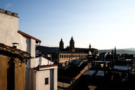 balcony view: Balcony view of the Old Quarter - Pamplona, Spain