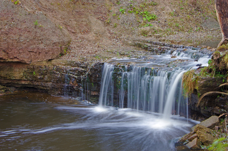 lanscape: Fall lanscape with waterfall Stock Photo