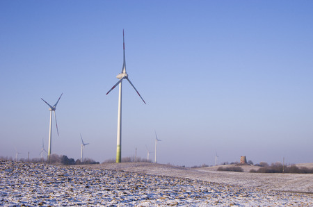 wind power plant: Wind power plant at winter