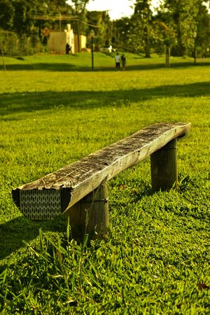 a free bench                  Stock Photo