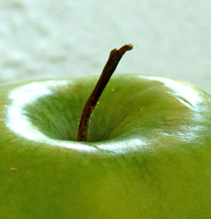 close up from a green apple                               Stock Photo