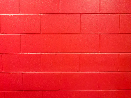 Red Cinder Block Wall Background