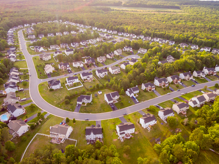 Aerial view of a Cookie Cutter Neighborhood Stock Photo - 78592999