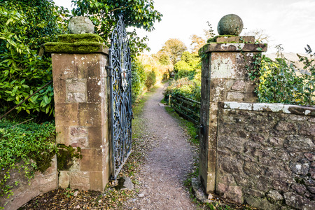 Old Gate Leading to a Foot Path